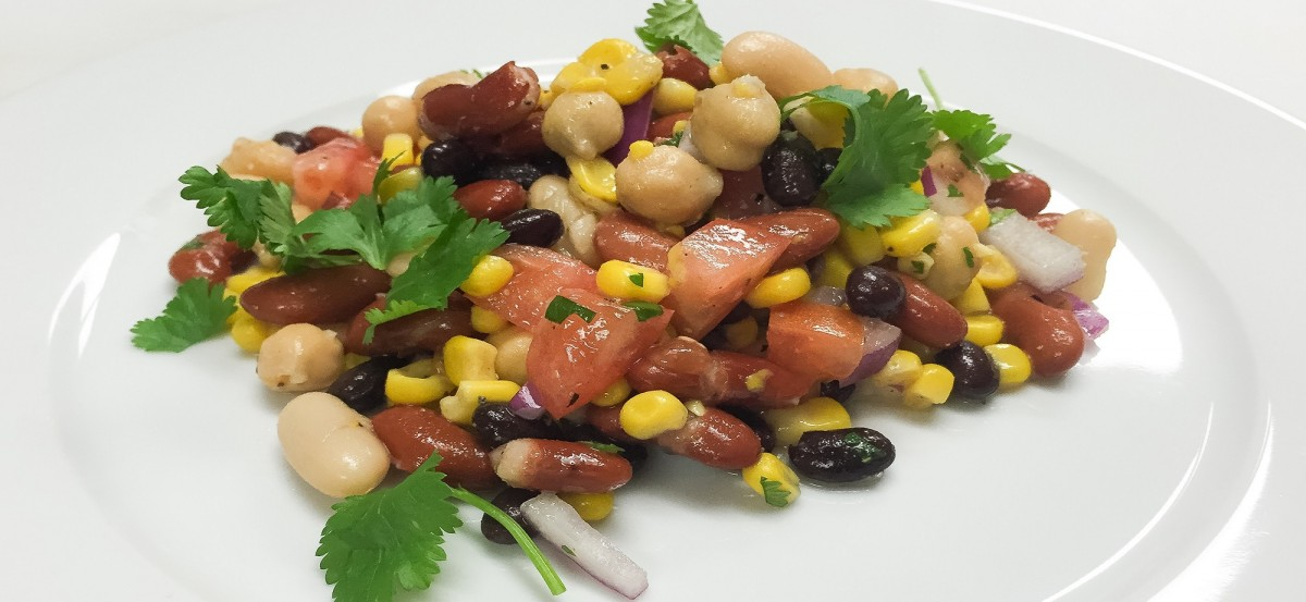 Four Bean Salad with Lime-Agave Vinaigrette