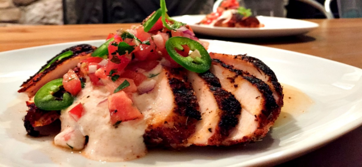 Blackened Chicken Breast with Chili-lime Yogurt